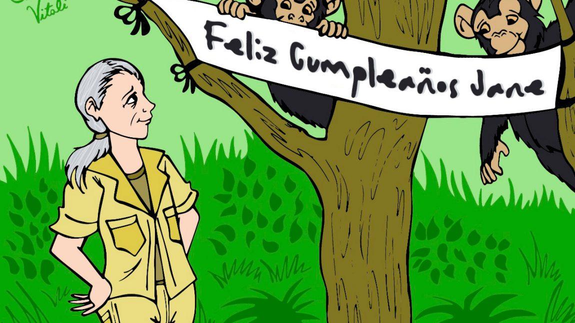 ¡Celebramos el cumpleaños número 84 de Jane Goodall!